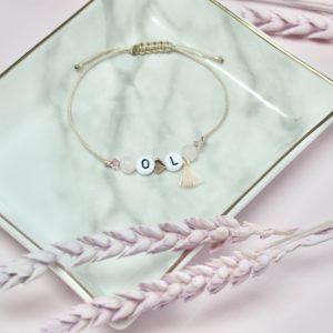 Armband Initialen Rosa