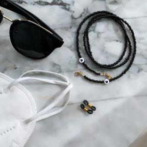 Brillenkette Black