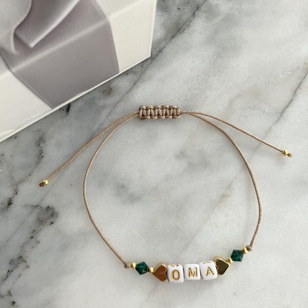 Armband Oma Smaragdgrün
