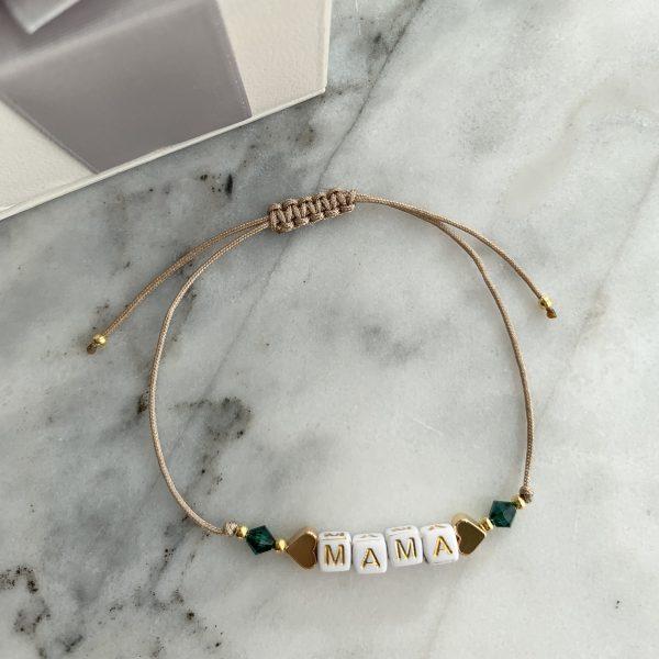 Armband Mama Smaragdgrün